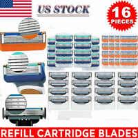 16Pcs 3/5-layer Men's Shaving Shaver Razor Blades Cartridges Replacements 4Pack