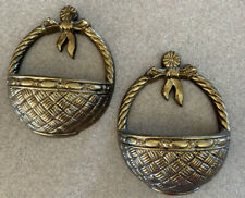 """Home Interior """"Baskets/Bows"""" Wall Planters Accents - set of 2"""