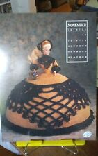 Vtg Annies Attic calendar doll crochet gown chart Miss November Antebellum