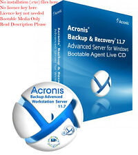Digital Delivery Acronis Backup Advanced 11.7 Workstation Server BootableCD ISO