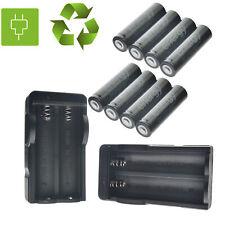 8pcs 18650 Batteries Li-ion 3.7volt Rechargeable Batteries charger For LED US