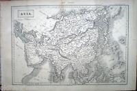1888 stampa incisione-Geografia-cartina geografica ASIA -Tav.97-98