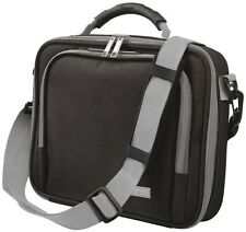 "HIGH QUALITY NEW TRUST 16580 BLACK GREY 10"" NOTEBOOK NETBOOK CARRY CASE + STRAP"