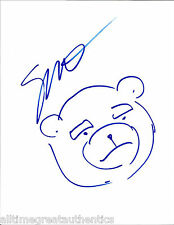 SETH MACFARLANE HAND DRAWN SIGNED FAMILY GUY TED TEDDY BEAR SKETCH W/COA PROOF