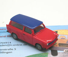 TRABANT 601 universale, Rosso / BLU Sondermodell