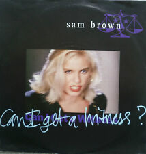 """7"""" 1989 ! SAM BROWN : Can I Get A Witness // MINT- \"""