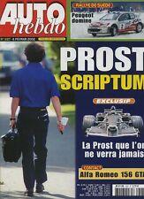 AUTO HEBDO n°1327 du 6 Février 2002 PROST GP ALFA 156 GTA MG TF