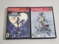 Kingdom Hearts 1 & 2 II Lot (PlayStation 2, PS2 2003). CIB. LNIB. Mint. See Pics