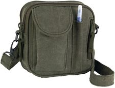 VINTAGE OD GREEN Venturer Excursion Travel Field Bag Organizer Shoulder Bag 9130