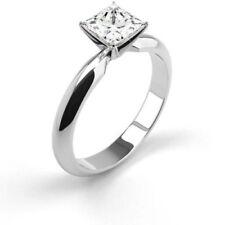 Anillos de joyería con diamantes en oro blanco princesa VS1