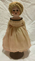 "Antique Bisque/ Porceline 8"" Germany Doll w glass Teeth & Eyes"