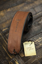 Martin Premium Brown Rolled Leather Guitar Strap (18A0028)