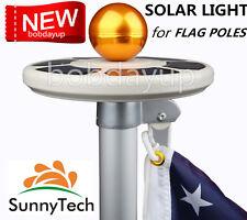 SunnyTech 2018 New 3rd Generation-Solar Flag Pole Light-Latest Upgraded Garden