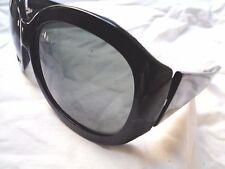 393c046e233 ALAIN MIKLI SUNGLASSES Black plastic frames blue lenses w  case