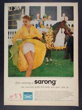 1957 Sarong Criss-Cross Girdle woman yellow dress photo vintage print Ad