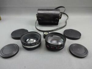 YASHICA YASHIKOR AUX. Telephoto & Wide Angle 1:4 lens w/ TELE-WIDE FINDER, CASE