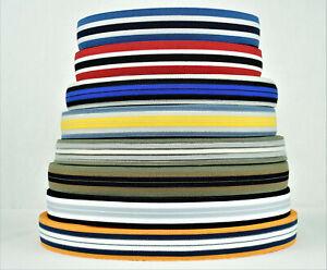 Gummiband  ca. 25 mm, Besatzband, Streifenband, Zierband, Galonband, elastisch,