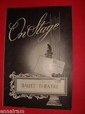 Dec 5 1952 Boston Opera House Ballet Theatre On Stage Swan Lake, Rodeo deMille