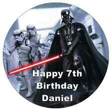 """Star Wars Darth Vader Cake Topper 7.5"""" Personalised  Edible Wafer Paper"""