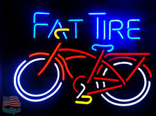 "Fat Tire Bicycle Bike Beer Lager Neon Sign 20""x16"" From USA"