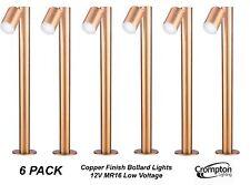 6 x Copper Finish 1M DIY Garden Adjustable Bollard Light 12V MR16 Low Voltage