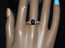 14-k yellow Gold Sapphire And Diamomd Ring