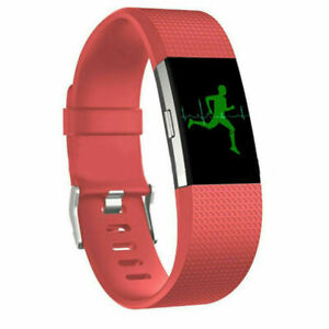 For Fitbit Charge 2 3 4 Silicone Wristband Band Replacement Watch Wrist Strap #W