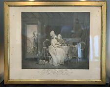 """GRAND FORMAT GRAVURE Ancienne, intitulée """" On Nous Voit """" datant du XIXe"""