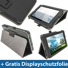 """Schwarz Leder Tasche für Asus MeMo Pad ME172V 7"""" 3G Android Tablet 16/32GB Etui"""
