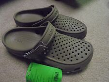 New Crocs Swiftwater Deck Clog Khaki/Stucco Men's 9