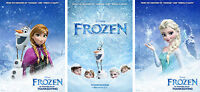 Frozen Movie Characters Elsa Olaf Anna Poster Set - A4 A3 A2 Sizes