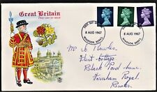 GB 1967 STUART FIRST DAY COVER BRITISH DEFINITIVE ISSUES SG729,740,743
