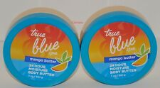 2 x Bath & Body Works  True Blue Spa Mango Butter 24 Hour Moisture Body Butter