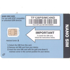 Straight Talk AT&T Compatible NANO Size SIM Card for AT&T Phones and Unlocked...