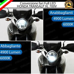 KIT FARO A LED HONDA TRANSALP XL 700V ANABBAGLIANTE + ABBAGLIANTE H11 6000K