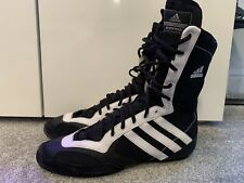 QUALITY ADIDAS BOX HOG BOXING Trainers LACE UP Training Boots SIZE UK 9 - BLACK