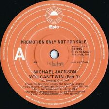 Michael Jackson Rare OZ Promo 45 You can't win (Parts 1) VG+ '78 Epic R&B Soul