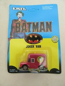 ERTL BATMAN Joker Van DC Comics Vintage 1989 Die-cast NEW