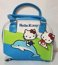 "Hello Kitty Riding on Dolphin Light Blue Handbag 8.5""H x 9.5""Wx 2.5""D"