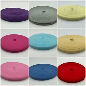 Cotton Bias Binding Bunting Tape 12.5mm Wide x 25 + 30 Metre Rolls All Colours