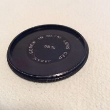 55mm SCREW FIT METAL LENS CAP