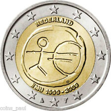 Netherlands 2 Euro, 2009, European Monetary Union, 10th Anniv comm.  UNC KM# 281
