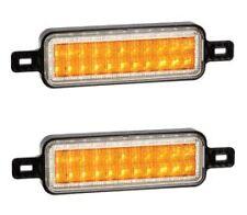 2x Narva 95202 Multivolt LED Amber Indicator Bull Bar Lamp w/White LED Park Ring