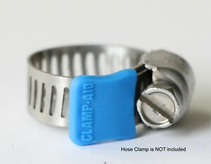 """Pack of 20 Blue Clamp-aid hose clamp end guards for 5/16"""" wide hose clamp bands"""