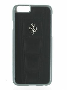 Ferrari Official Licensed 458 Black Real Leather Hard Case for iPhone 6 /6S Plus