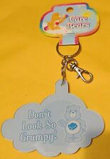 "Care Bears Grumpy Bear Keychain backpack Clip with Mirror ""Don't Look so GRUMPY"""