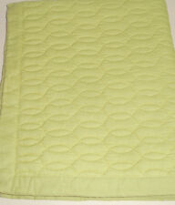 Sferra Bradley Quilted Standard Pillow Sham Leaf Green Cotton Oval Stitch Design