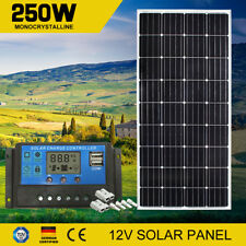 250W 12V Solar Panel Kit With Regulator 250 watt Mono & Pair Free Anderson Plugs