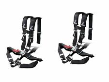 "Dragonfire Seat Belt Harness 5 Point 3"" Padded Black Pair Yamaha Can Am Polaris"