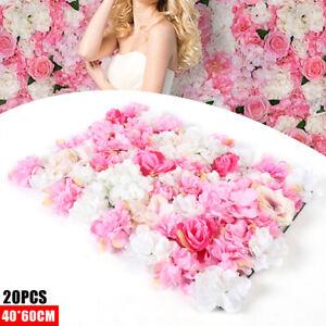 40*60cm 20er-Set Künstliche Rosen Kunstblumen Blumenwand DIY Hochzeitsdeko DHL